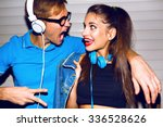 Crazy Hipster Couple Having Fu...