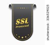 ssl protected golden vector... | Shutterstock .eps vector #336529025