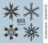 Rock Snowflakes Set.  ...