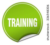training round green sticker... | Shutterstock .eps vector #336548306