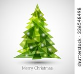 abstract christmas tree made of ... | Shutterstock .eps vector #336548498