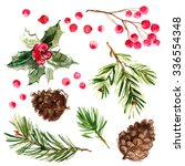 christmas ornaments from the... | Shutterstock . vector #336554348