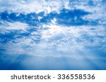 Blue Sky With Clouds And Sun  ...