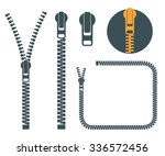 Zipper. Icon Set. Abstract...