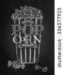 poster popcorn sweet full... | Shutterstock .eps vector #336577925