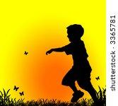 little boy chasing butterflies | Shutterstock . vector #3365781