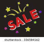 black friday sale banner in... | Shutterstock .eps vector #336584162