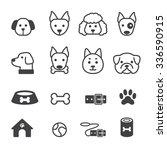 dog icon set | Shutterstock .eps vector #336590915