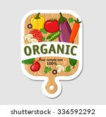 organic food menu design ... | Shutterstock .eps vector #336592292