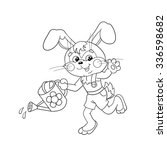 coloring page outline of a cute