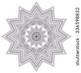 mandala. vintage decorative...   Shutterstock .eps vector #336598832