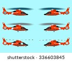 set red rescue helicopters....   Shutterstock .eps vector #336603845