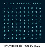 alien hieroglyphs symbols ... | Shutterstock .eps vector #336604628