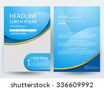 Abstract vector modern flyers brochure / annual report /design templates / stationery with white background in size a4 | Shutterstock vector #336609992