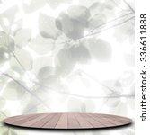 wood floor on abstract... | Shutterstock . vector #336611888