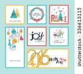 set of flat line design... | Shutterstock .eps vector #336613115