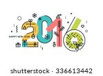 new year and christmas flat... | Shutterstock .eps vector #336613442