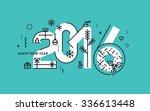flat line design new year's... | Shutterstock .eps vector #336613448