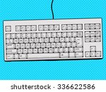 computer keyboard hand drawn... | Shutterstock .eps vector #336622586