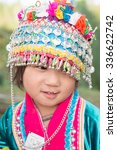 smile hill tribe girl in the... | Shutterstock . vector #336622742