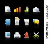 office and business icon set...