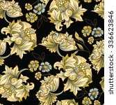seamless pattern of decorative... | Shutterstock .eps vector #336623846