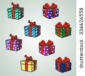 set christmas presents | Shutterstock .eps vector #336626558