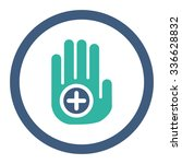 hand medical marker vector icon.... | Shutterstock .eps vector #336628832