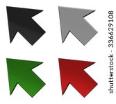 set of icons arrows 3d... | Shutterstock . vector #336629108