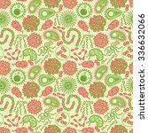vector seamless pattern with... | Shutterstock .eps vector #336632066