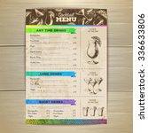 vintage cocktail menu design.... | Shutterstock .eps vector #336633806
