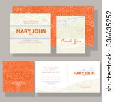 wedding invitation ornamented... | Shutterstock .eps vector #336635252