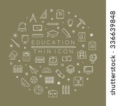 set of education icons   eps10... | Shutterstock .eps vector #336639848