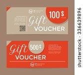 gift voucher template   eps10... | Shutterstock .eps vector #336639896