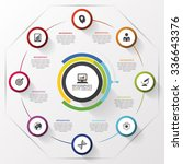 rolling circle. modern design... | Shutterstock .eps vector #336643376
