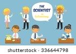 cartoon scientists set  in... | Shutterstock .eps vector #336644798