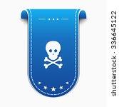 danger sign blue vector icon... | Shutterstock .eps vector #336645122