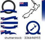 new zealand banner set. vector... | Shutterstock .eps vector #336646955