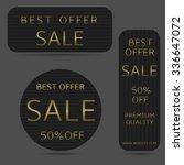 black best offer banner set... | Shutterstock .eps vector #336647072