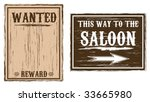 Western Wanted Saloon Background