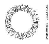 vector circuit circle    Shutterstock .eps vector #336664658