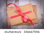 wrapped gifts for valentines... | Shutterstock . vector #336667046