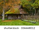 Old Wooden Barn In The Medieva...