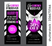 black friday sale banner.... | Shutterstock .eps vector #336675566