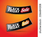 black friday sales tag. vector... | Shutterstock .eps vector #336684308