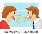 family conflict. man and woman...   Shutterstock .eps vector #336688208