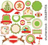 set of christmas winter labels... | Shutterstock .eps vector #336689456
