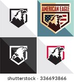 eagle vector sign. american... | Shutterstock .eps vector #336693866