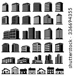 buildings icons set vector  | Shutterstock .eps vector #336694355