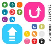 up arrow upload icon set....